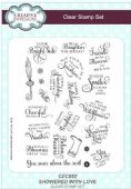 Creative Expressions - Showered With Love A5 Clear Stamp Set - CEC882